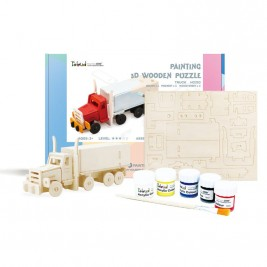 Wooden Truck DIY Puzzle with Paint Kit