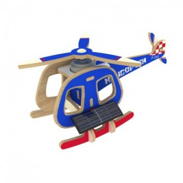 Solar powered 3D wooden Helicopter