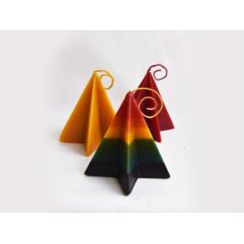 Natural Beeswax Star Pyramid Candle