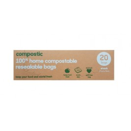 Home Compostable, Resealable Zip Lock Snack Bags