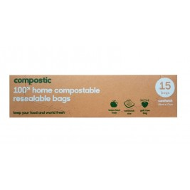 Home Compostable, Resealable Zip Lock Sandwich Bags