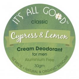 Natural Cream Deodorant for men